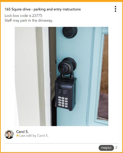 Lock box code